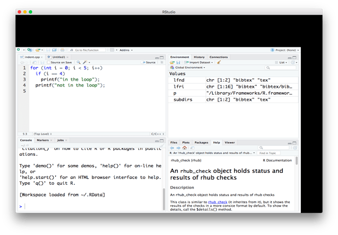The RStudio macOS Rendering Bug · R and C++